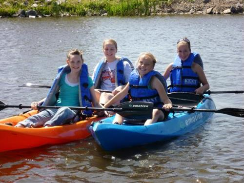 Girls enjoying the kayaks