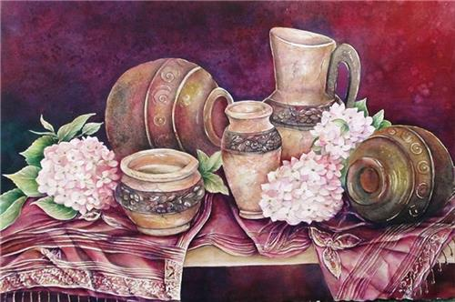 SHANNON'S POTS  WATERCOLOR