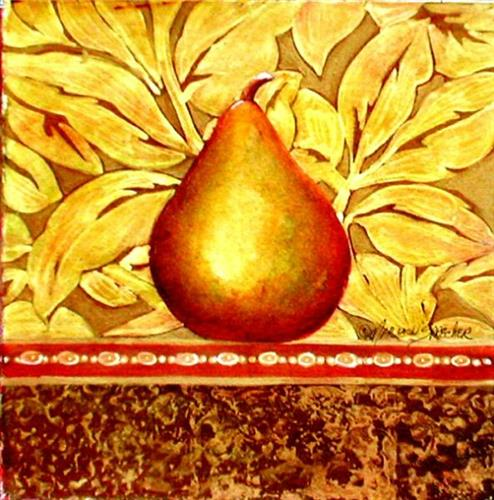 YELLOW PEAR / Mixed Media