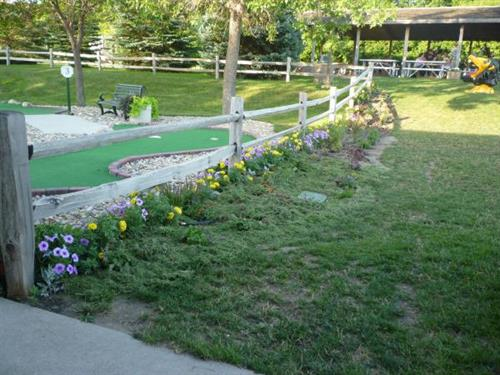 New Flower bed by mini golf course