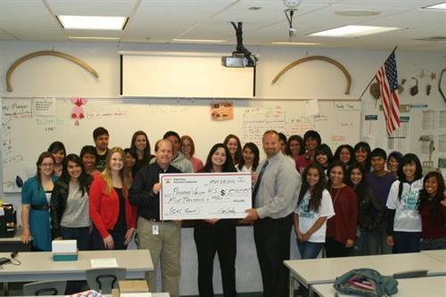 State Farm Good Neighbor Grant to the deserving kids at PVHS!
