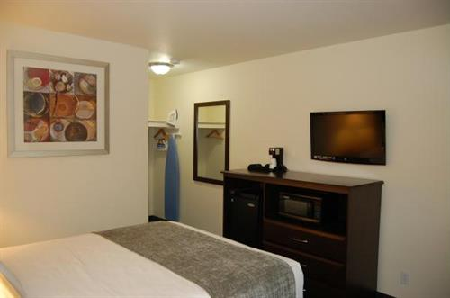 Guest Room 32'' Flat Screens/Microwaves, Refrigerators and Coffee Makers