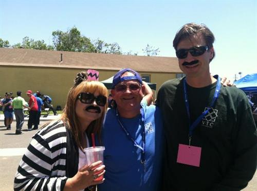 Tracy, Billy and Jason - Mustache's for Worker Appreciation Day