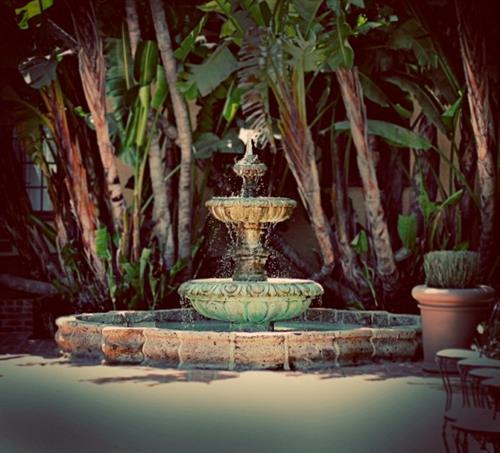 The Garden Court and Antique Fountain