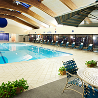 Enjoy our Holidome Recreation Facility featuring a Junior-Olympic swimming pool, whirlpool and fitness center! Memberships available.