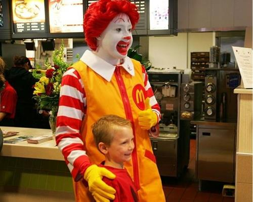 Ronald Joins in the Fun