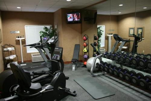 Build up those muscles in our fitness room.