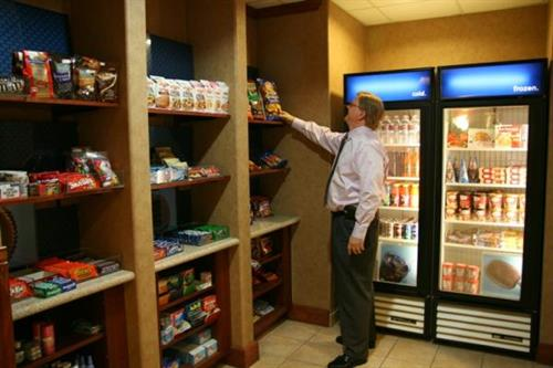 Looking for a snack? Our suite shop is open 24 hours.