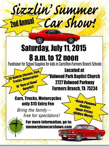 As a proud sponsor we'll be at Valwood & Josey on Sat morning 7/11