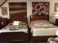 Beds and area rugs available.  More beds & rugs are on display.  We also have mattresses and box springs.