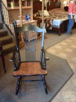 Wooden rockers available for anyone looking to spend time just relaxing before or after the Holidays.