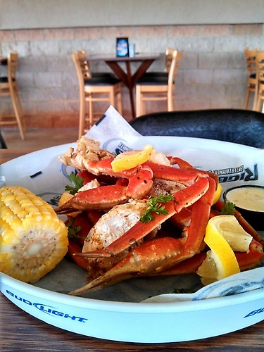 Quality Snow Crab Legs are only $19.95 for 2.5 lbs. and a side of your choice
