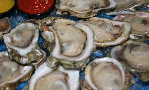 Oysters come raw, baked, or steamed. Toppings are optional