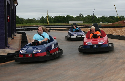 Outdoor go-kart track will get your adrenaline pumping at our top speed!