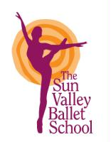 Sun Valley Ballet School logo and design