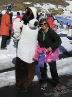 Bernard and Board Member Rosemary Aquilante hammin' it up at the Paw 'n Pole