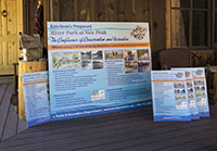 Water Park at Sun Peak signs and design