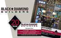Black Dimond Builders logo and design
