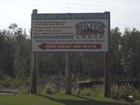 Sign at Anna Ln. off the Sterling Highway