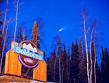 Comet over Soldotna.