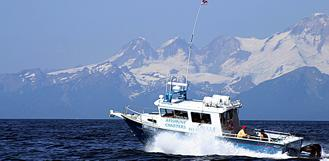 Cook Inlet halibut fishing has short boat ride to fishing grounds