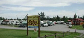on-site RV resort with cabins and fish processing