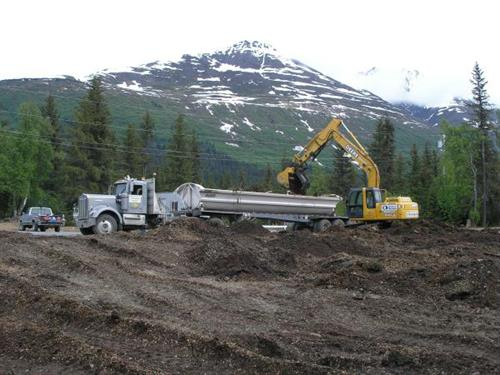 Excavation for Forestry Service Substation in Moose Pass