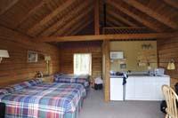 Standard double queen cabin interior