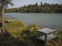 Private Kenai River frontage near the main lodge property