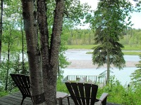 View of Kasilof River from main lodge deck