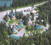 Aerial view of Gwin's Lodge