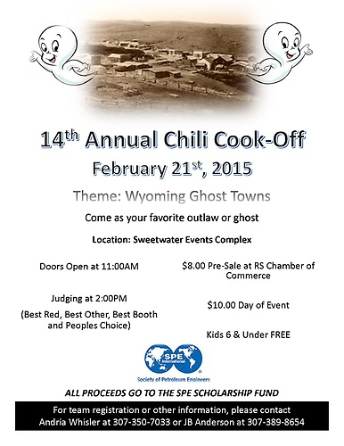 2015 Chili Cook Off Theme