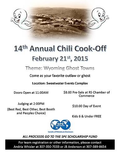 2015 Chili Cook Off Theme