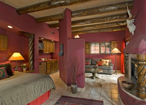 Puerta Roja ~ a private casita that sleeps 2 or 4 with gas fireplaces and a kitchenette