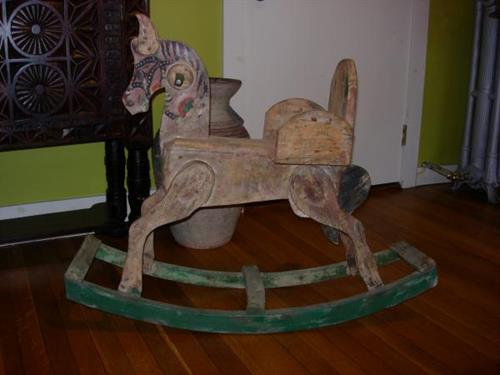 Vintage rocking horse from Eastern Europe