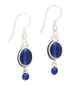 Blue Rhapsody Earrings - Tara Projects, India