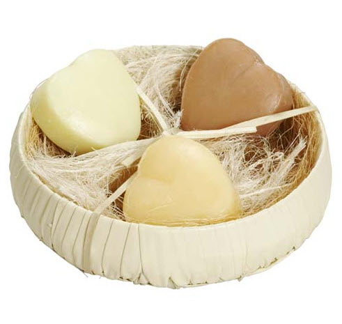 Handmade Heart Soaps - Palam Rural Centre, India