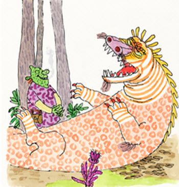 SHREK! illustration copyright 1990 by William Steig. Used by permission of Farrar, Strauss and Giroux
