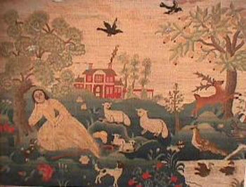 Esther Stoddard embroidered picture