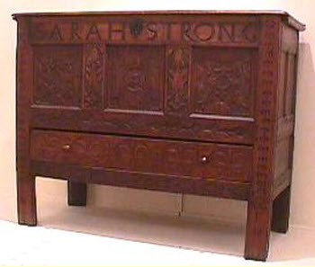 Joined chest with drawer, possibly Northampton, 1699-1720