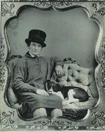 Man with Dog Daguerrotype, 1850-55