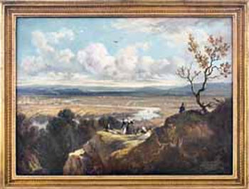 View from Mt. Holyoke, Victor de Grailly, c. 1845