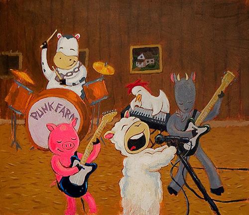Punk Farm Finishes their Rehearsal - Jarrett J. Krosoczka