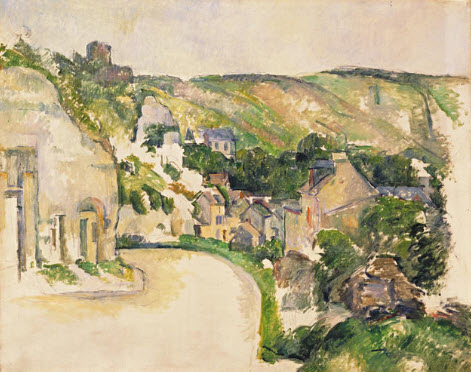 A Turn in the Road at La Roche-Guyon, Paul Cezanne