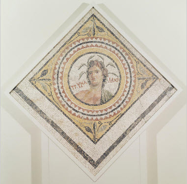 Floor Segment: Personification of the River Pyramos, Unknown artist, Roman, Syria