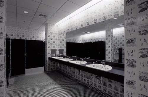 Men's restroom - designed by Sandy Skoglund