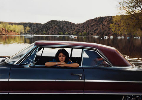 Peggy Martinez, Santa Cruz, 64 Chevy Two Tone from The Lowriders: Portraits from New Mexico, Meridel Rubenstein
