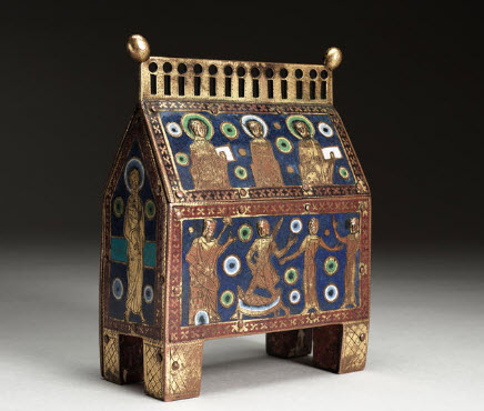 Reliquary with the Judgment of Solomon, Unknown artist, French (Limoges)