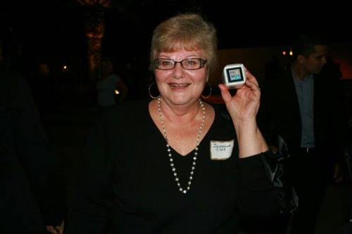 One of the lucky winners of an iPod Nano