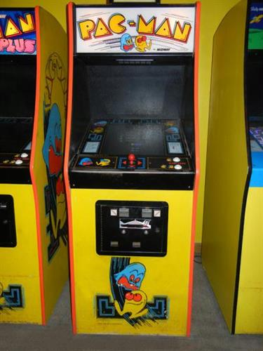 The Pac-Man machine that the world's first perfect score was achieved on.
